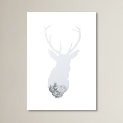 Beckett Winter Deer Graphic Art Size: 10