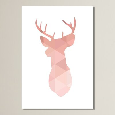 Beckett Deer Graphic Art Size: 10