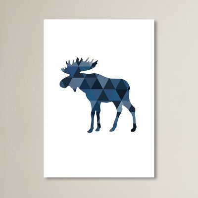 Beckett Navy Moose Graphic Art Size: 10