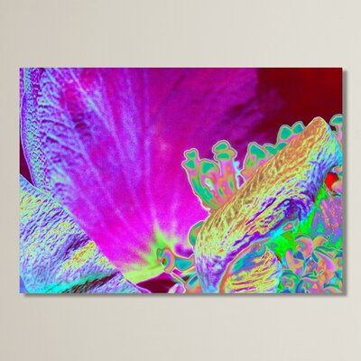 Neon Rose 1 Graphic Art Size: 11