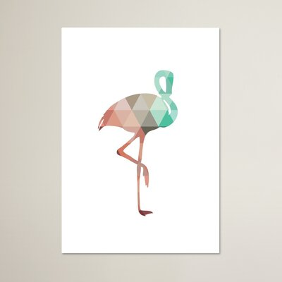 Beckett Mint Coral Flamingo Graphic Art Size: 10