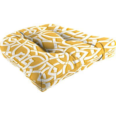 Outdoor Lounge Chair Cushion Fabric: Greystone Daffodil
