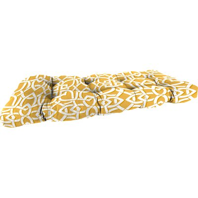 Outdoor Bench Cushion Fabric: Greystone Daffodil