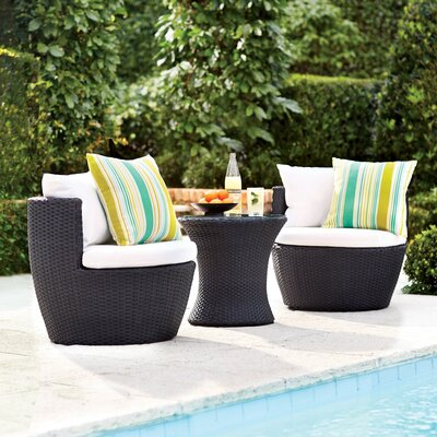 Collingswood 3 Piece Lounge Seating Group with Cushion