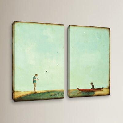 Day Training 2 Piece Painting Print on Wrapped Canvas Set