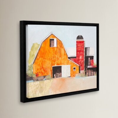 Barn No. 3 Framed Painting Print on Wrapped Canvas Size: 8