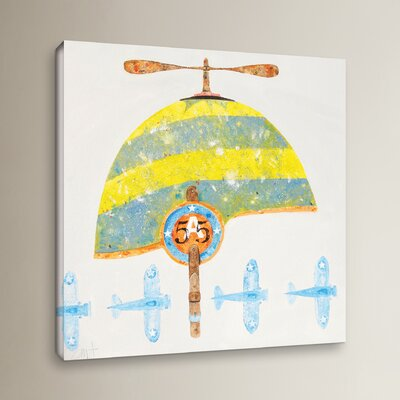 Cap No. 55 Painting Print on Wrapped Canvas Size: 10