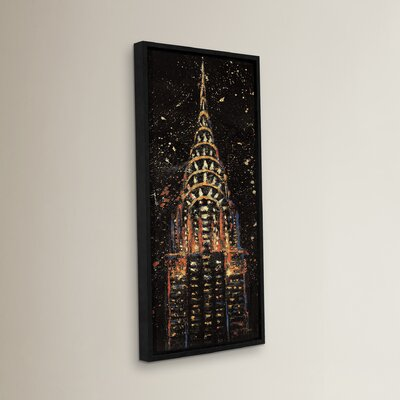 Cities at Night Painting Print on Wrapped Canvas Size: 24