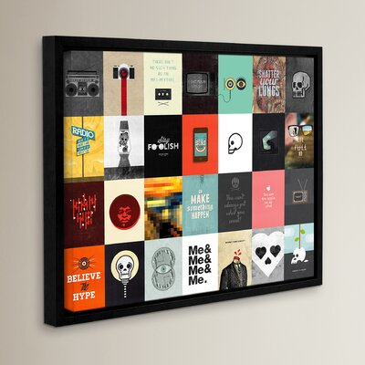 Music Technology Media Framed Graphic Art Size: 14