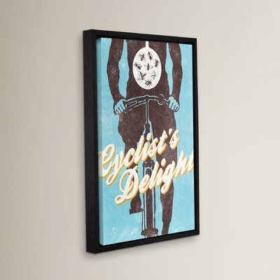 Cyclist's Delight Frame Graphic Art Size: 18