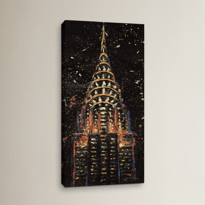 Cities at Night Painting Print on Wrapped Canvas