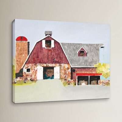 Barn No. 2 Painting Print on Wrapped Canvas Size: 8