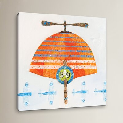 Cap No. 59 Painting Print on Wrapped Canvas Size: 10