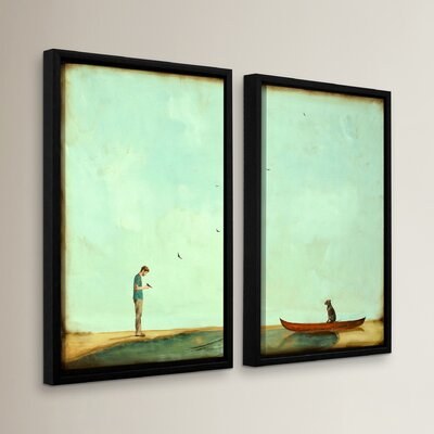 Day Training 2 Piece Framed Painting Print on Wrapped Canvas Set