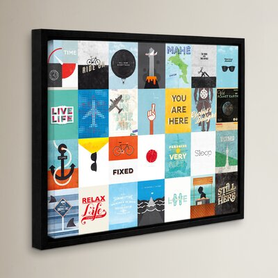 Leisure Travel Vacation Framed Graphic Art Size: 14