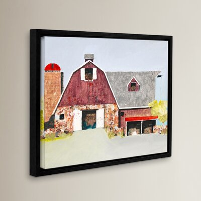 Barn No. 2 Framed Painting Print on Wrapped Canvas Size: 14