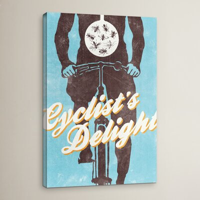 Cyclist's Delight Graphic Art on Wrapped Canvas Size: 18
