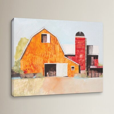 Barn No. 3 Painting Print on Wrapped Canvas Size: 14