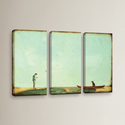Day Training 3 Piece Painting Print on Wrapped Canvas Set