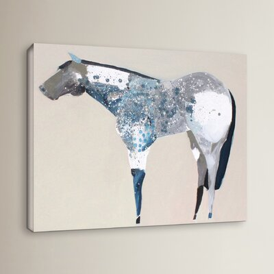Horse No. 34 Painting Print on Wrapped Canvas Size: 14