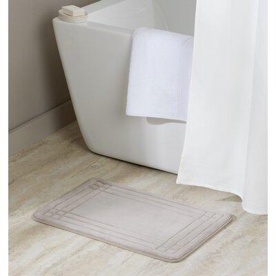 McBride Embossed Memory Foam Bath Rug Color: Silver, Size: 24 H x 17 W