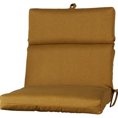 Outdoor Dining Chair Cushion Fabric: Husk Texture Ginger