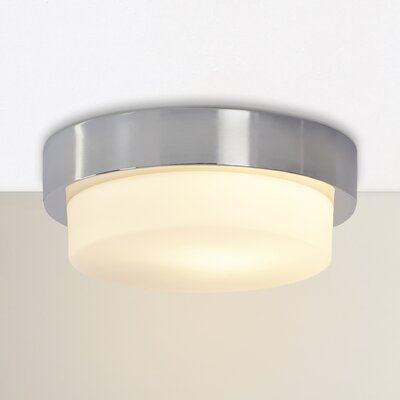 Camac 1-Light Flush Mount Finish: Chrome