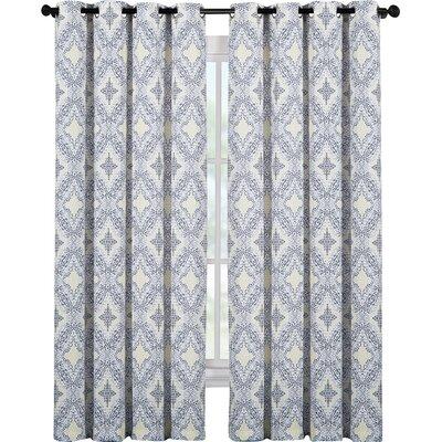 Damask Grommet Curtain Panel