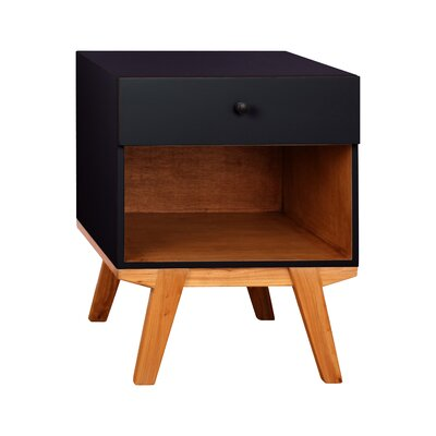 Amoroso 1 Drawer Nightstand Color: Black