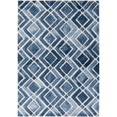Roma Nova Blue Area Rug Rug Size: Rectangle 52 x 76