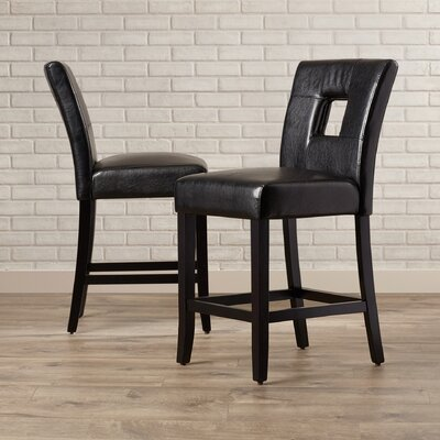 Wickliffe Side Chair Side Chair Upholstery: Black