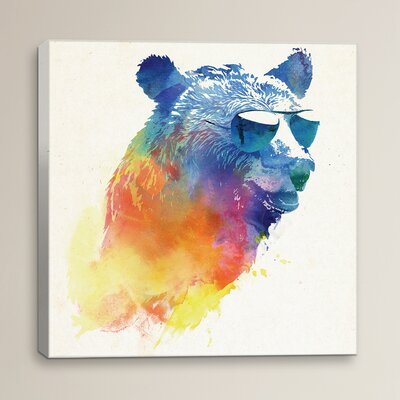 Sunny Bear by Robert Farkas Print Painting on Wrapped Canvas