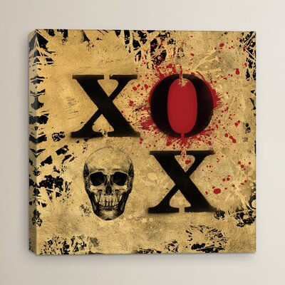 Heart Of Gold V by Art Licencing Studio Painting Print on Wrapped Canvas