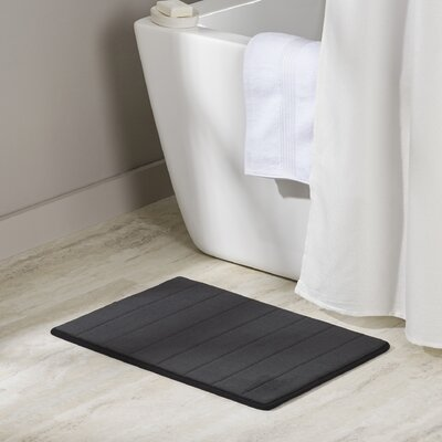 Mcmunn Bath Rug Color: Black, Size: 1 5 x 2