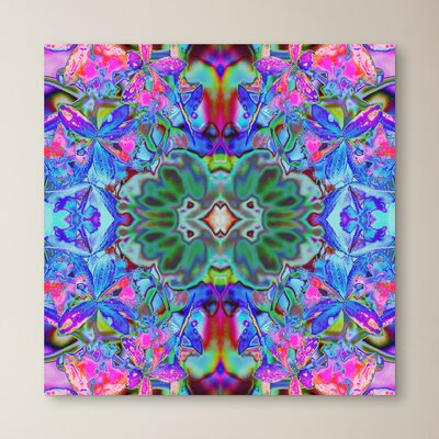 Passion Flower X2 by Rose Anne Colavito Graphic Art on Wrapped Canvas Size: 10