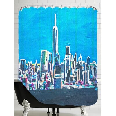 Markus Bleichner Anwar NYC Shimmering Skyline Shower Curtain