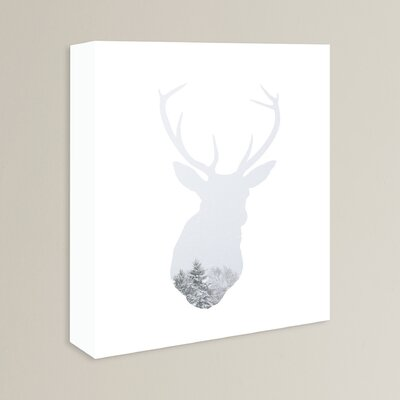 Beckett Winter Deer Graphic Art on Wrapped Canvas Size: 14