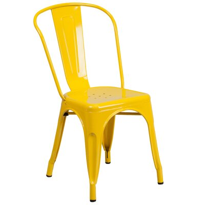 Bustleton Dining Side Chair (Set of 2) Finish: Yellow