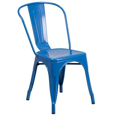 Collier Dining Side Chair Finish: Blue