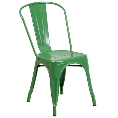 Collier Dining Side Chair Finish: Green