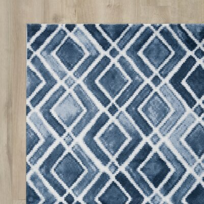LaMoure Nova Navy Blue/White Area Rug