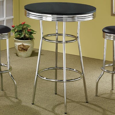 Westgate Retro Pub Table Finish: Black