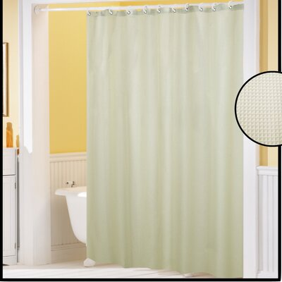 Clybourne Waffle Weave Shower Curtain Color: Ivory