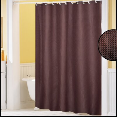 Clybourne Waffle Weave Shower Curtain Color: Brown