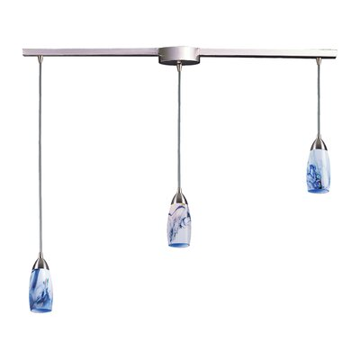 Bensenville 3-Light Kitchen Island Pendant Glass Type: Mountain
