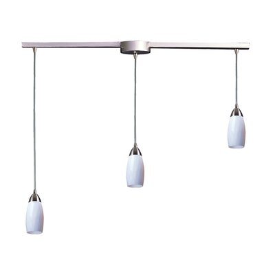 Bensenville 3-Light Kitchen Island Pendant Glass Type: Simply White