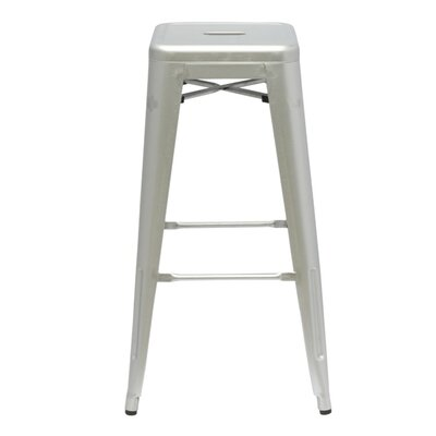 Clever 30 Bar Stool Upholstery: Silver