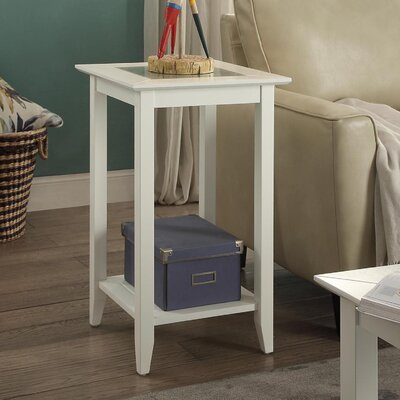 Melrose End Table Color: Off-White