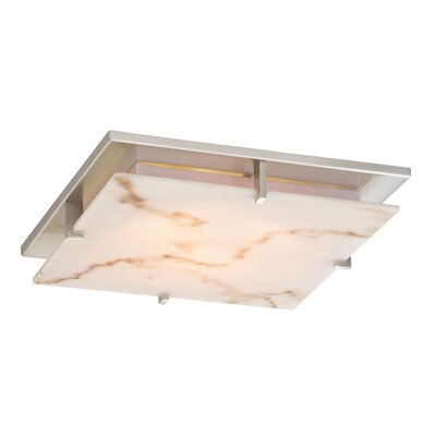 Douglass Circle 11 Faux Alabaster Resin Square Lamp Shade