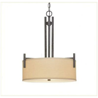 Hirst 3-Light Drum Pendant Finish: Olde World Iron